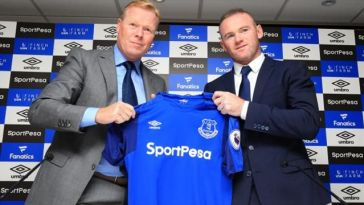 Wayne Rooney signs for Everton