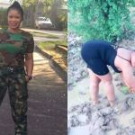 Meet This Amazing Nigerian Female Soldier Who Is Also Into Rice Farming