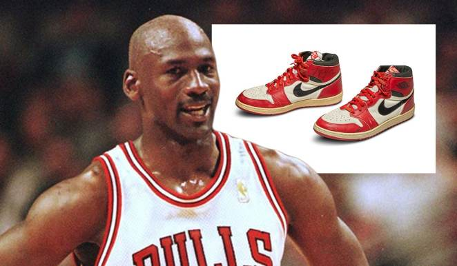 Michael Jordan's signature Air Jordan shoes