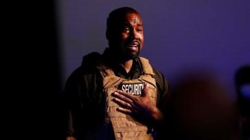 Kanye West breaks down in tears