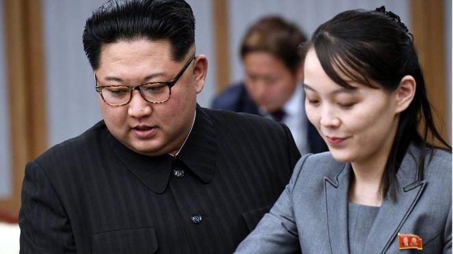 Kim Jong-un and Kim Yo Jong