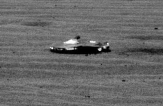 Alien spaceship on Mars