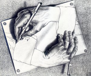 "Escher ""Drawing Hands"""