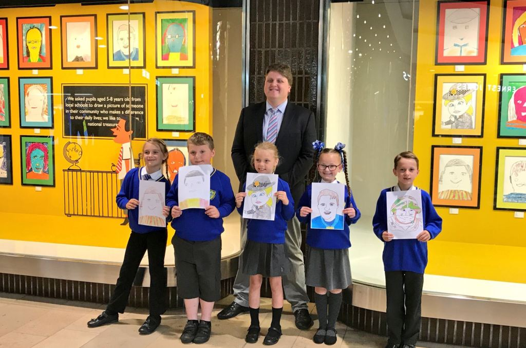 Competition Winning Pupil Artwork Displayed In John Lewis Store