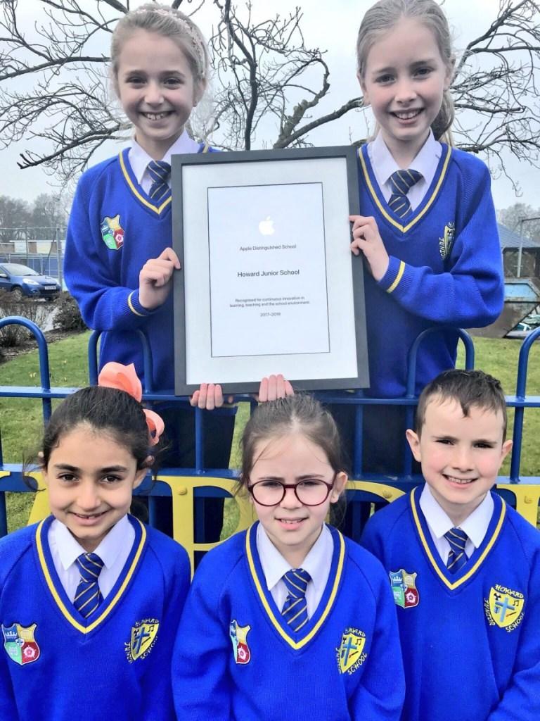 Howard Junior School recognised as an Apple Distinguished School!