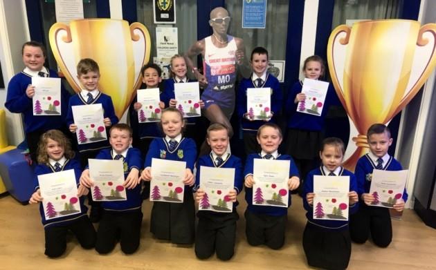 Pupils sprint towards rewards for Parkrun