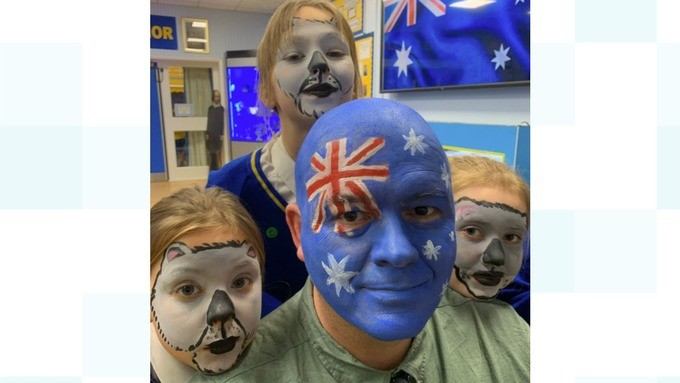 Norfolk schoolchildren transform into koalas to fundraise for Australian bushfire relief