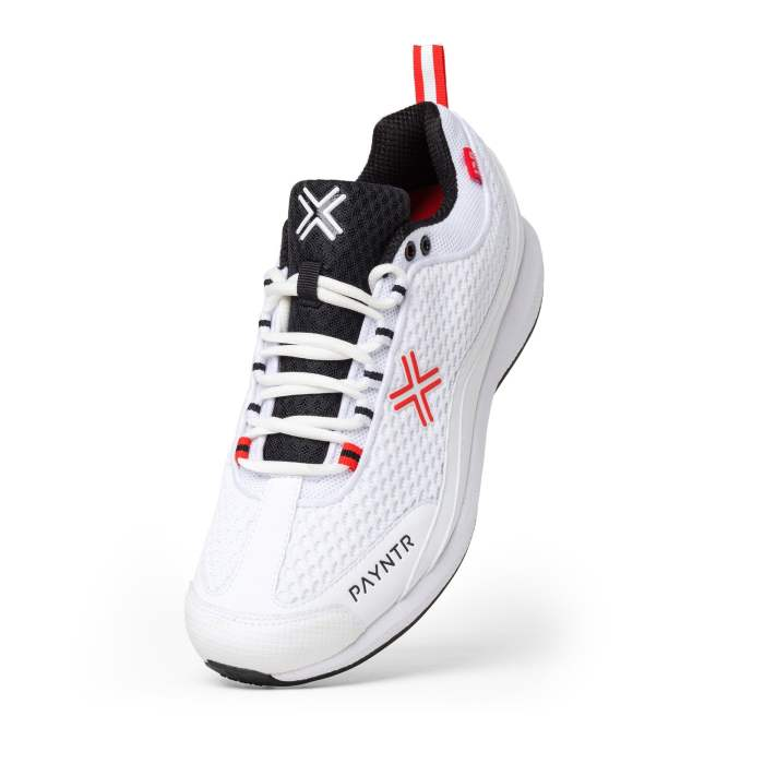 PAYNTR Bodyline 124 Batting/Keeping Spike White Trainers