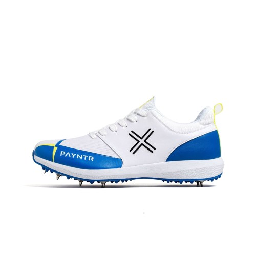 PAYNTR V Spike White & Blue Trainers
