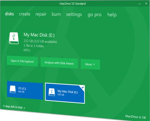 MacDrive 10 Crack free Download