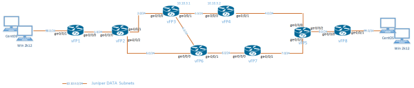 Juniper vMX IP topology