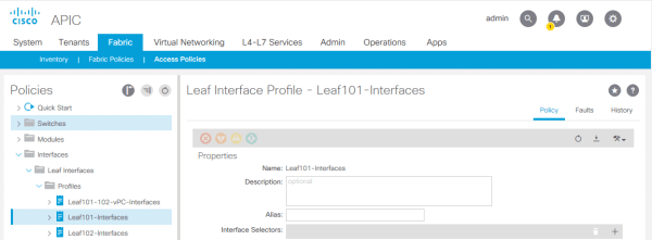 Leaf Interface Profile