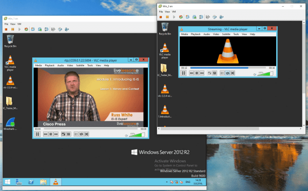 Multicast Stream test with VLC 11