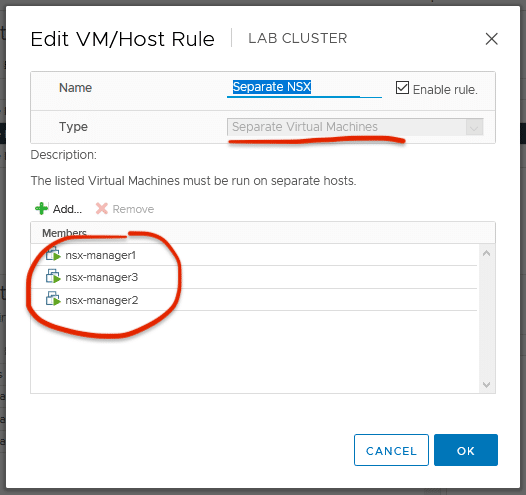 VMware Affinity rules 2