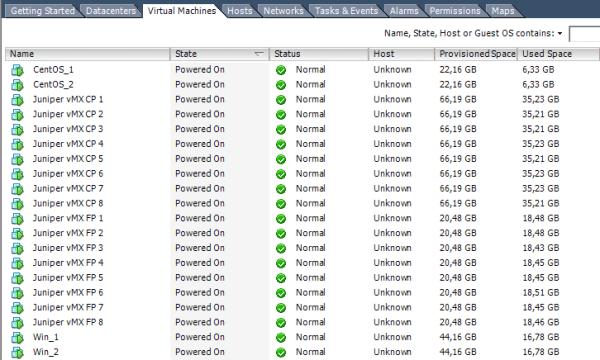 vMX on VMware