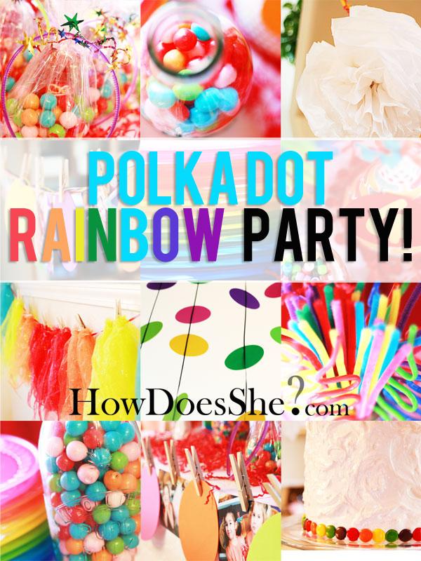 Rainbow Polkadot Party Theme Kids Theme Parties