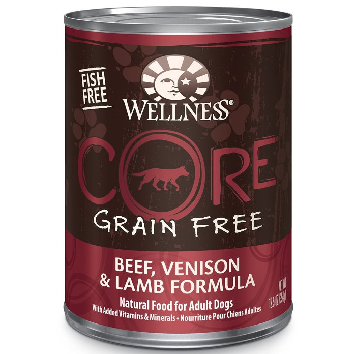 Natural Grain Free Wet Canned With Beef, Venison & Lamb By Wellness CORE Dog Food