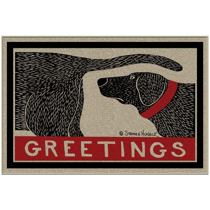 Best doormat for dogs by ALLU Humorous Dog Sniffing Welcome