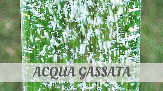 How To Say Acqua Gassata