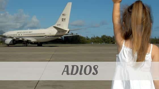How To Say Adiós