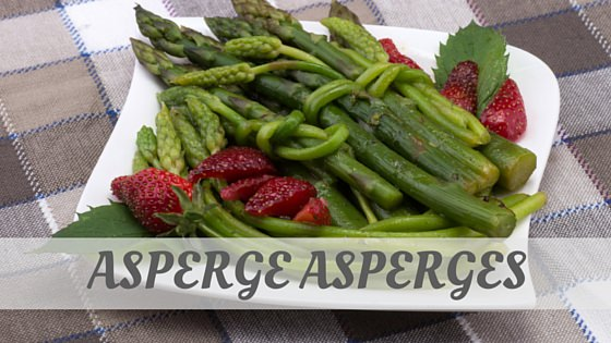 How To Say Asperge