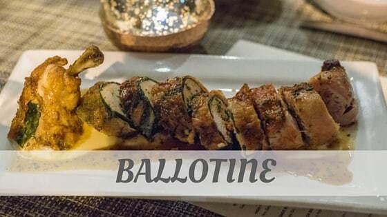 How To Say Ballotine
