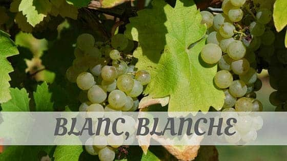 How To Say Blanc