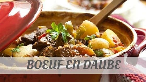 How To Say Boeuf En Daube