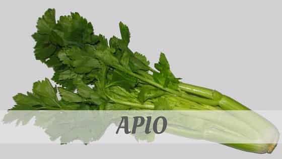 How To Say Apio
