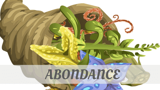 How To Say Abondance