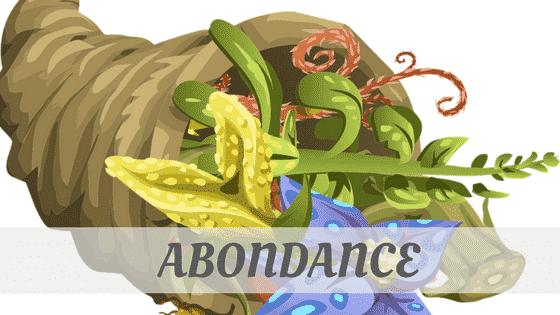 How To Say Abondance