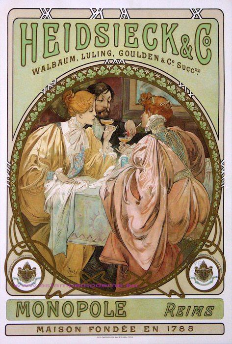 Heidsieck Champagne Vintage Poster