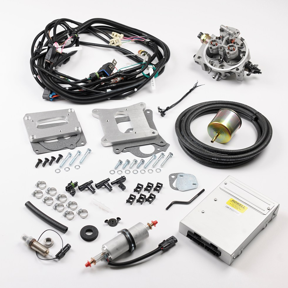 to learn more or to order your conversion kit or harness, contact howell  efi at www howellefi com or call (810) 765-5100