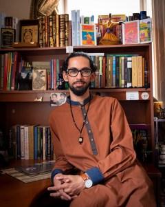 Portrait of Asad Dandia at home.