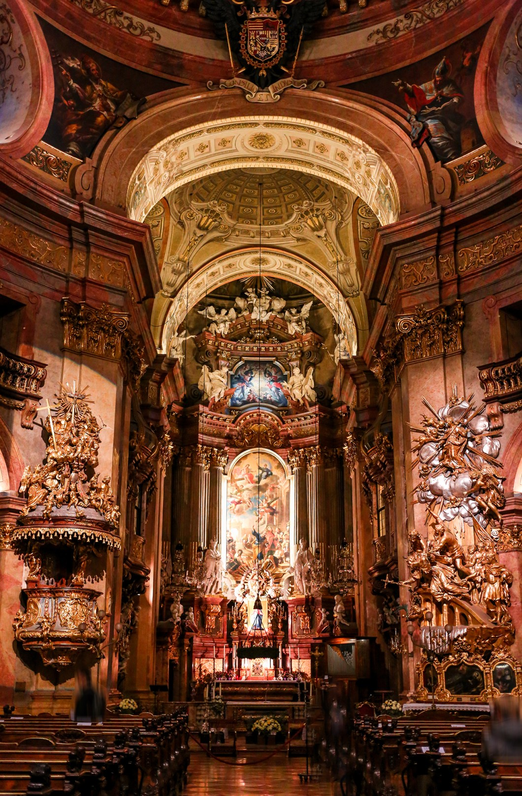 Inside St. Peter's Church in Vienna