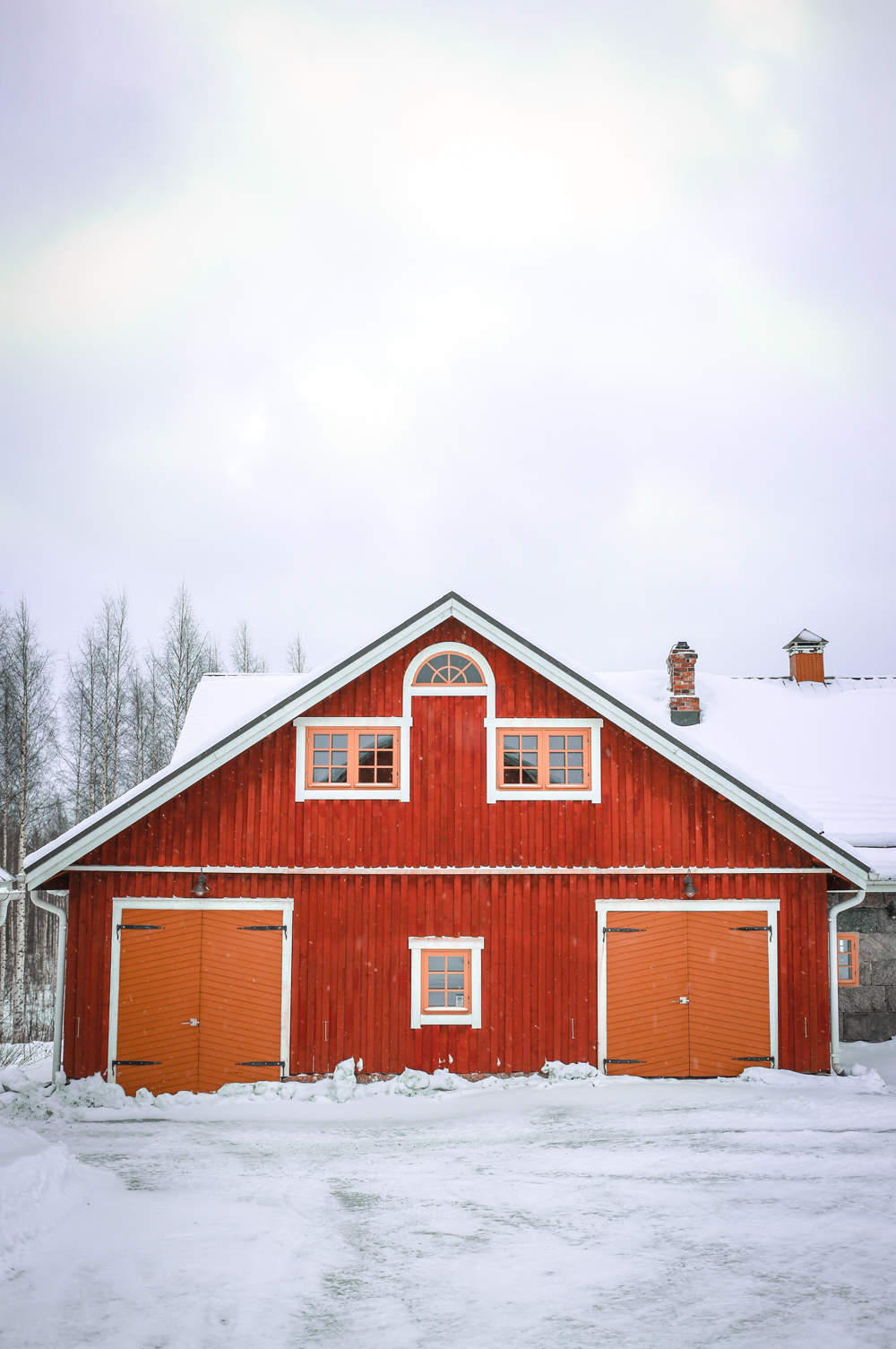 Red cabin in Finland