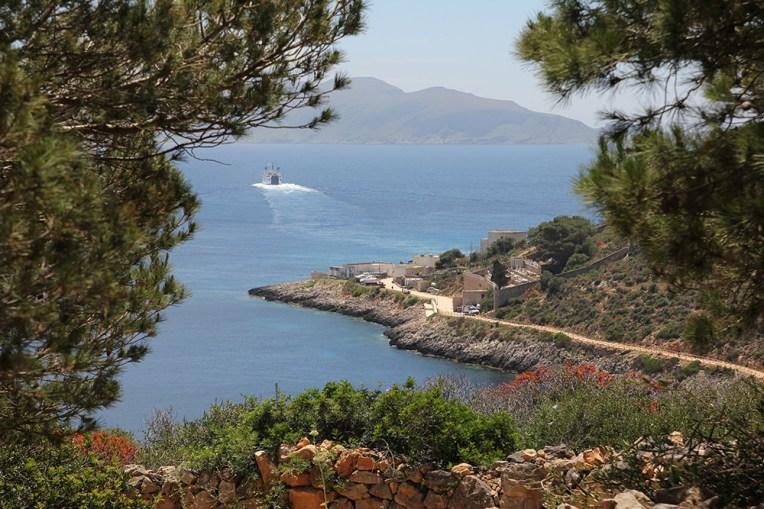 Widok z Passo Torre - drogi wiodącej wgłąb wyspy