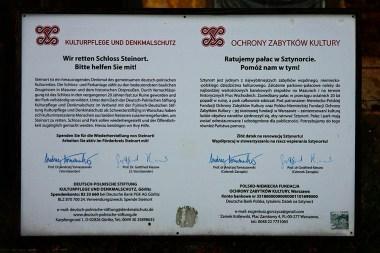 Tablica Informacyjna Polsko-Niemieckiej Fundacji Ochrony Zabytków Kultury