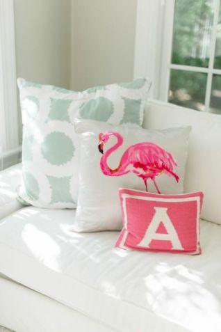 Cushions are a simple and stylish way to add colour to a room, without making permanent change.