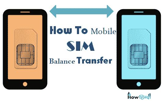 एक Mobile Sim से Dusre Mobile balance Transfer कैसे करे [All Mobile Sim]