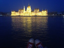 Night time Parliament view...my shoes made it in the picture