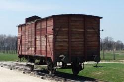 Rail car used to transport Jews