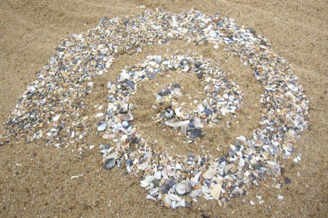Spirale Beach Art coquillages