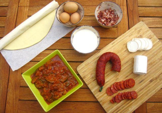 ingrédients tarte aux légumes