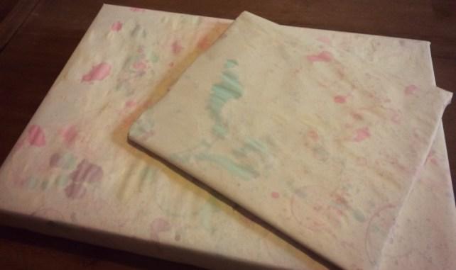 papier cadeau bulles colorees