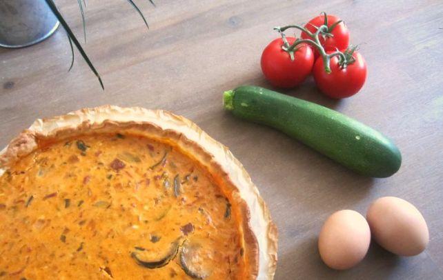 idée pour faire manger des légumes à ses enfants la tarte courgette