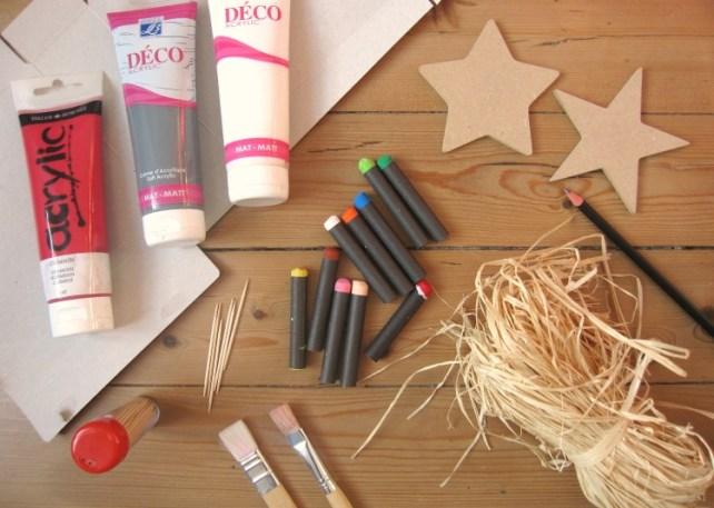 décoration Noël magique matériel carte à fratter