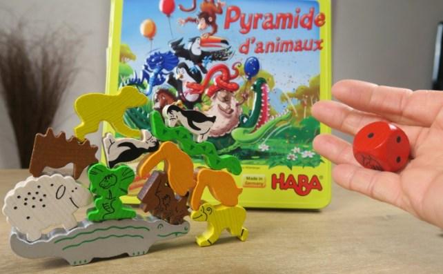 Pyramide d'animaux lancer de dé HABA