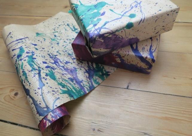 papier cadeau perso encre soufflée
