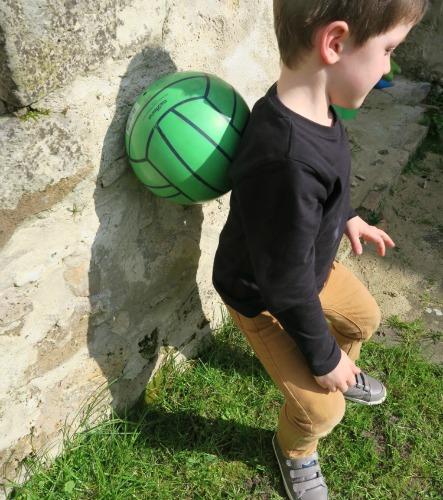 massage dos avec un ballon